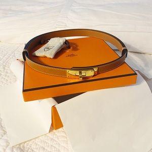 HERMES kelly belt - gold epsom
